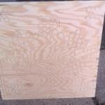 Gefräste Holzplatte