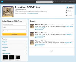 Twitter-Account der Platinenfräse