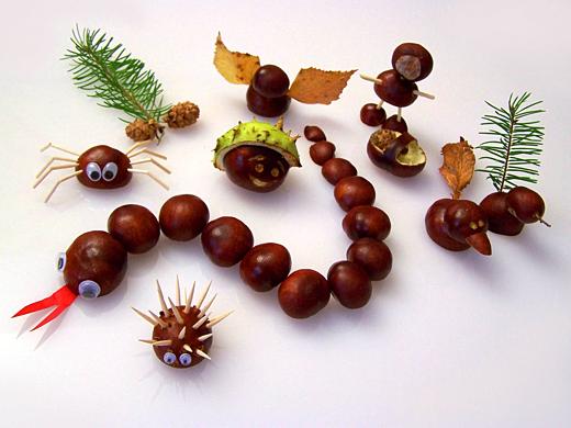 Herbstliches kinderbasteln attraktor for Kastanien basteln kinder