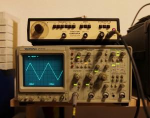 Der Funktionsgenerator am Oszilloskop